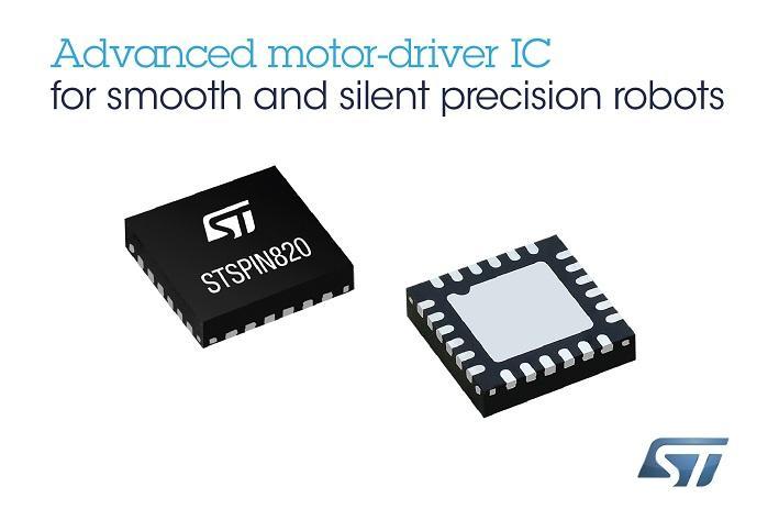 ST新闻图片 11月29日——意法半导体(ST)先进电机控制芯片让自动化系统尺寸更小,运行更顺畅、更安静