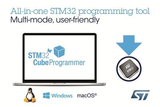 STST新闻图片 12月22日——意法半导体(ST)全新多合一软件工具让STM32用户烧写代码更方便