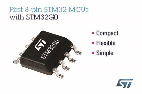 ST新闻稿9月20日——意法半导体推出首款8引脚STM32微控制器,可适用于简单应用
