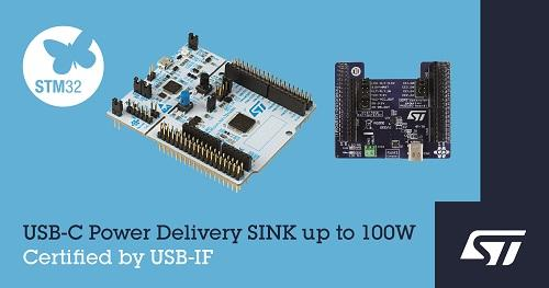 ST新闻稿2020年6月30日——意法半导体推出USB-IF认证开发板,将USB-C®和USB快充功能延伸到嵌入式应用