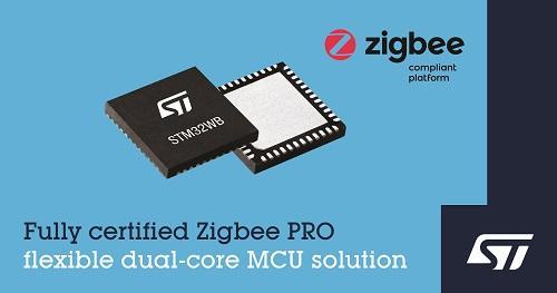 ST新闻稿2020年7月10日——意法半导体STM32WB无线微控制器现可支持Zigbee 3.0