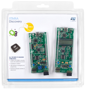 2. 探索板:STM8A-DISCOVERY(STM8AF5288 和 STM8AL3L68微控制器探索套件)