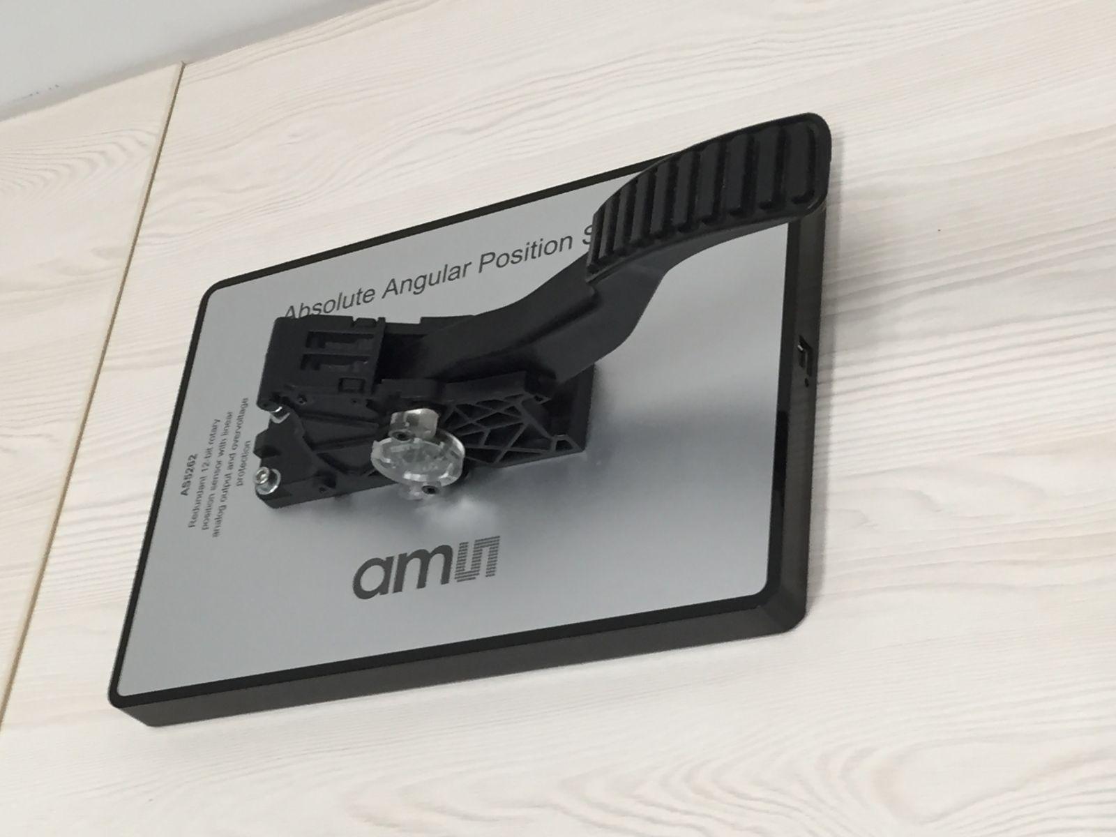 ams的位置传感器应用于汽车油门踏板
