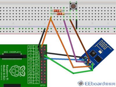 与树莓派通信的ESP8266板