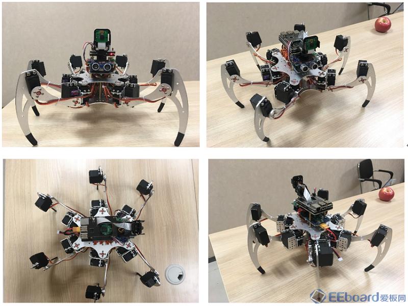基于树莓派3的物联网智能六足机器人