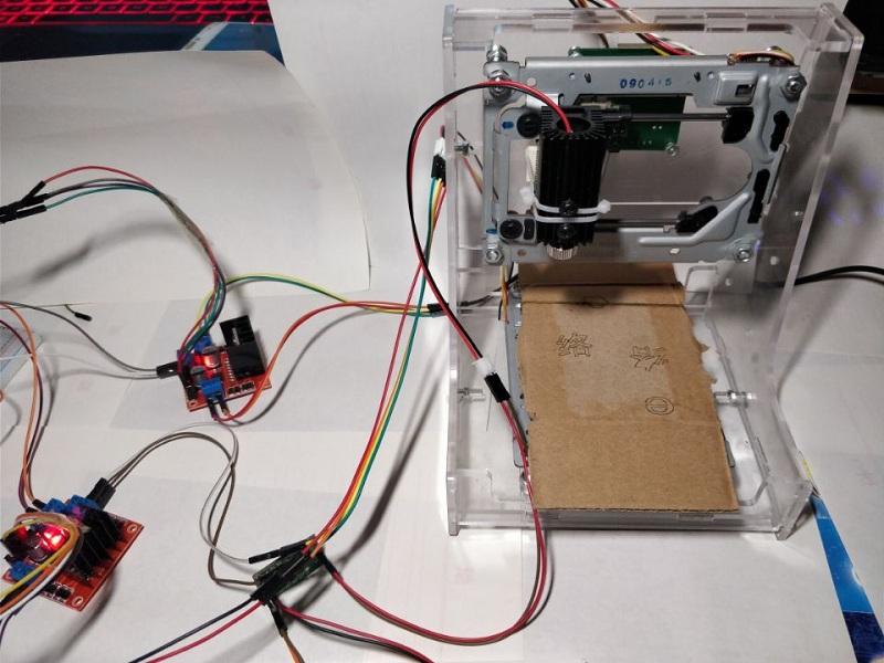 基于树莓派&JAVA的微型激光雕刻机