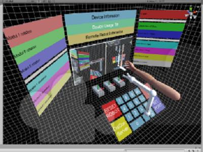 VR第一视角远程牵引控制机械臂
