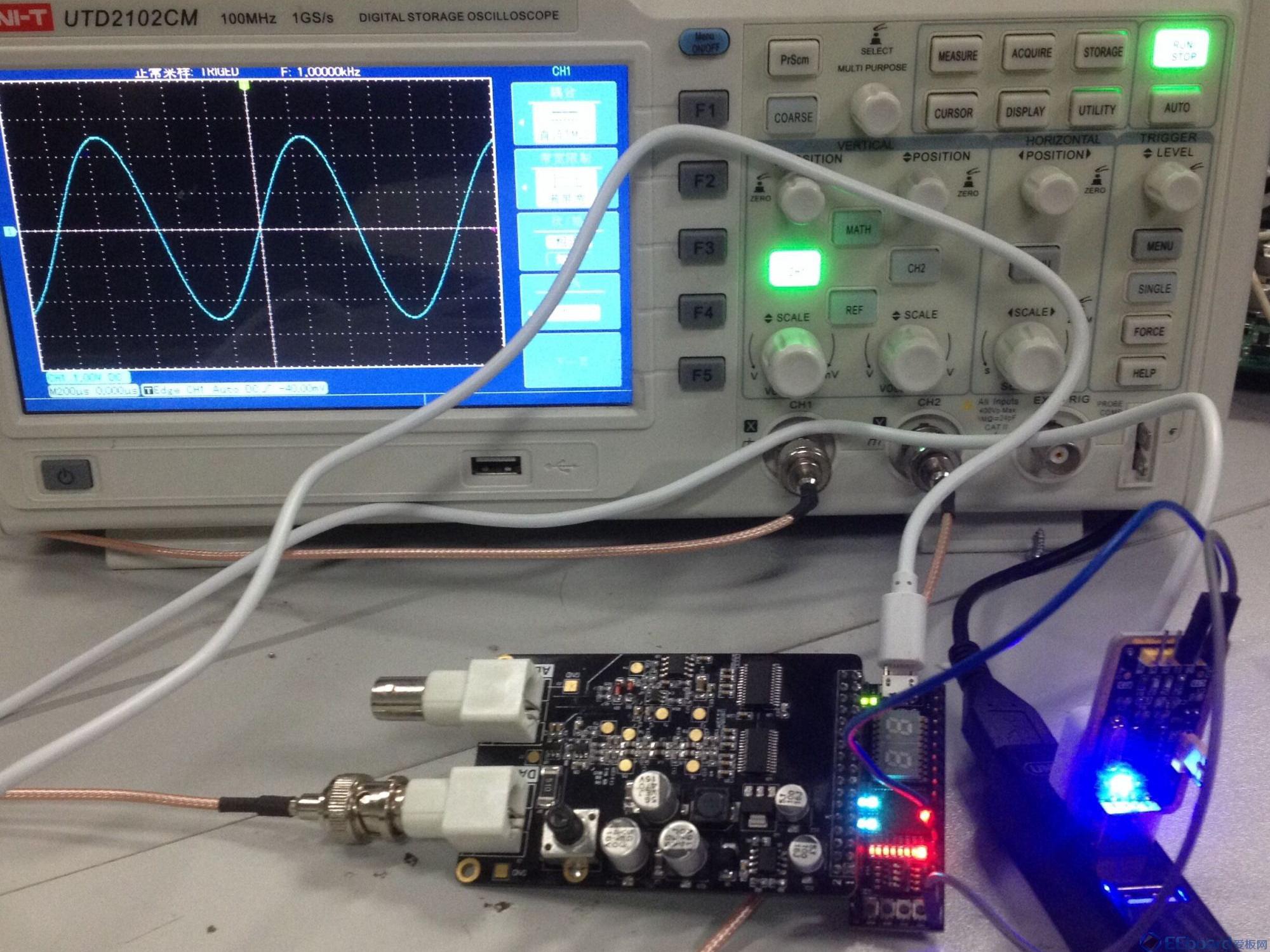 基于STEP-FPGA的串口可调的高精度信号发生器